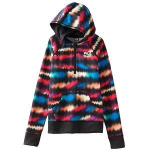 FILA Sport Girls Multicolor hooded Sweatshirt - L